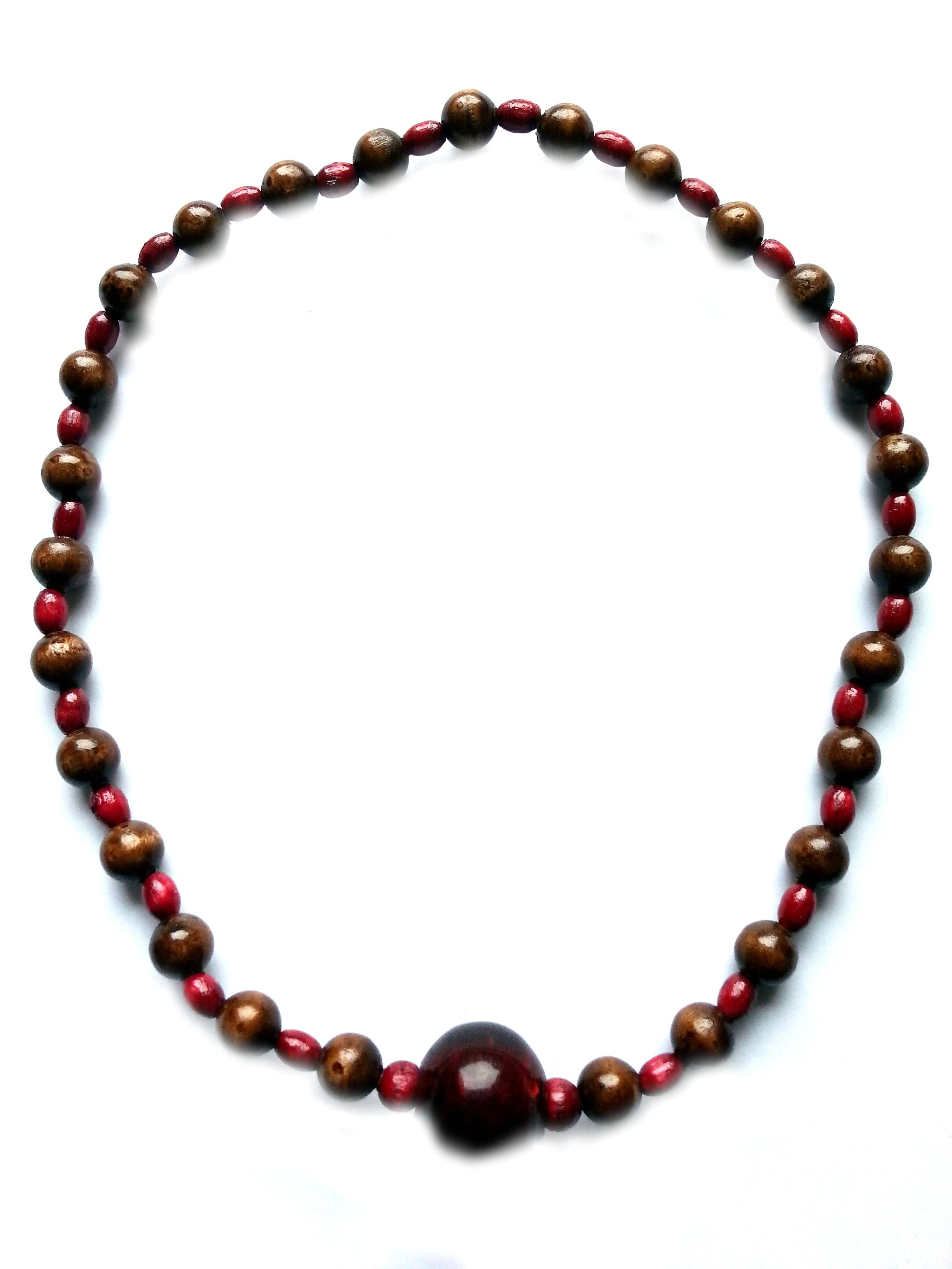 Halskette,Holzperlen