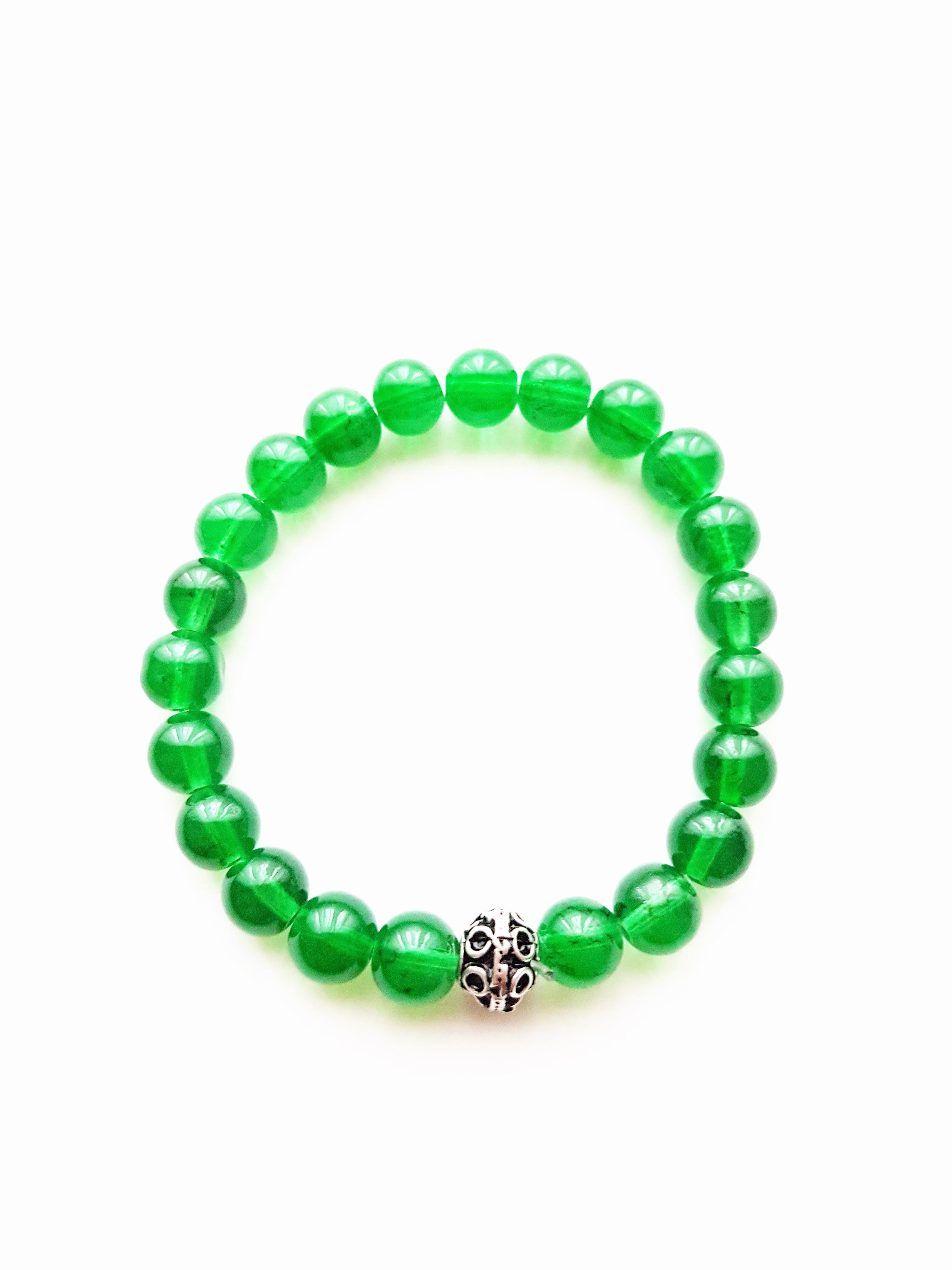 Armband,Glasperlen,grün