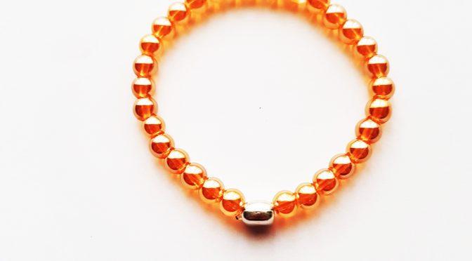 Armband,Glasperlen,gold