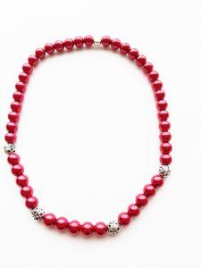 Halskette,Glaswachsperlen