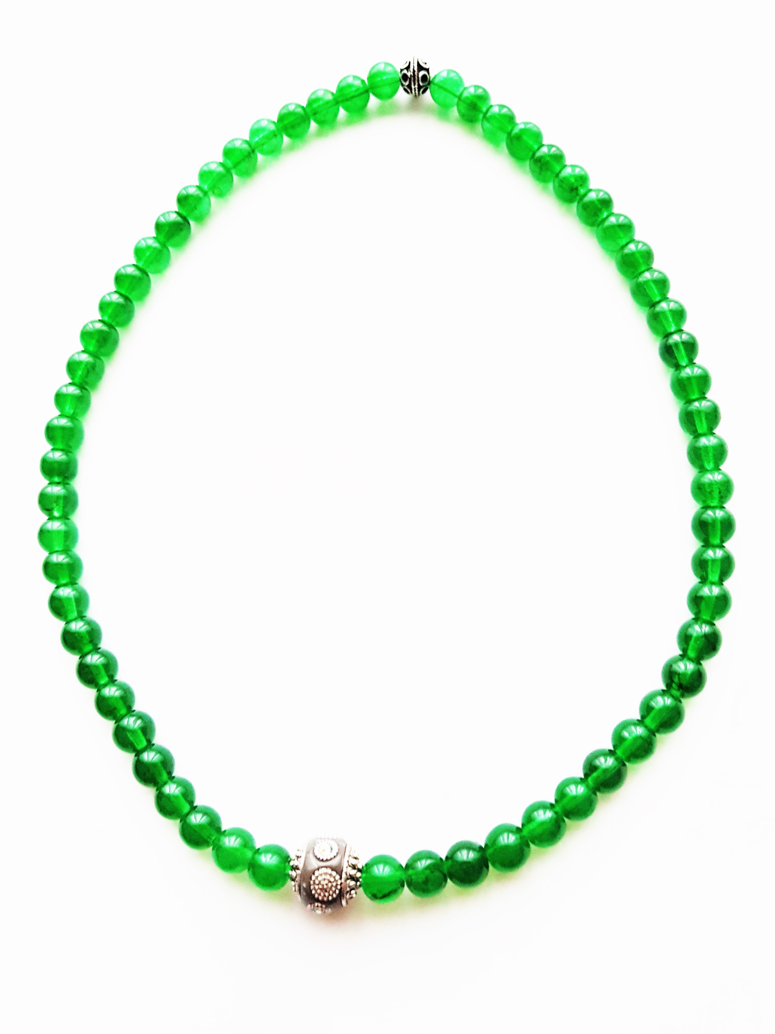 Halskette,Glasperlen,grün