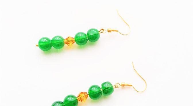 Ohrringe,Glasperlen,grün